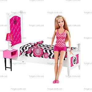 Набор с куклой Barbie «Роскошная спальня», CFB60, купить