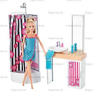 Набор с куклой Barbie «Роскошная ванная комната», CFB61, купить