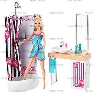 Набор с куклой Barbie «Роскошная ванная комната», CFB61, фото