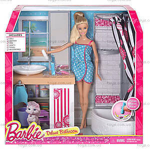 Набор с куклой Barbie «Роскошная ванная комната», CFB61