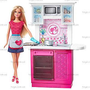Набор с куклой Barbie «Роскошный интерьер», CFB63, цена