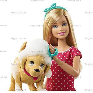 Набор с куклой Barbie «Веселое купание щенка», DGY83, отзывы