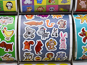 Детский набор наклеек «Животные», 1000 штук, 5919, цена