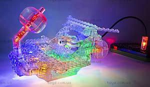 Светодиодный конструктор 12 в 1 «Автомобиль», 870b, toys