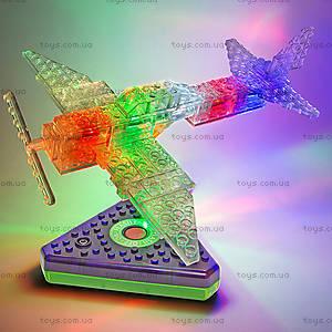 Светящийся конструктор 12 в 1 «Грузовой самолёт», 1670b, купить