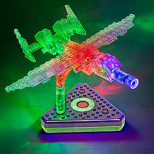 Светящийся конструктор 12 в 1 «Грузовой самолёт», 1670b, игрушки