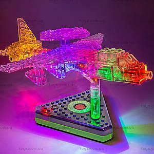 Светящийся конструктор 12 в 1 «Грузовой самолёт», 1670b, детские игрушки