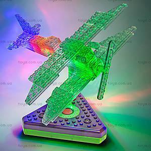 Светящийся конструктор 12 в 1 «Грузовой самолёт», 1670b, магазин игрушек