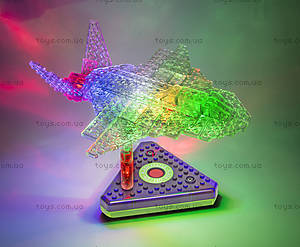 Светящийся конструктор 12 в 1 «Грузовой самолёт», 1670b, toys