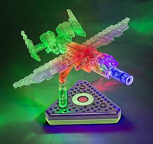 Светящийся конструктор 12 в 1 «Грузовой самолёт», 1670b, іграшки