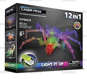 Светящийся конструктор 12 в 1 «Паук», 1700b