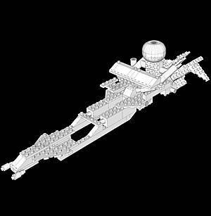 Светящийся конструктор 16 в 1 «Космический корабль», 9030b, купить