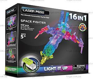 Светящийся конструктор 16 в 1 «Космический корабль», 9030b