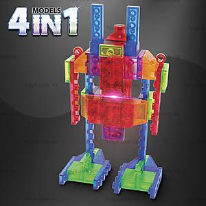 Светящийся конструктор 4 в 1 «Робот», 200b, фото