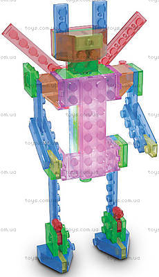 Светящийся конструктор 4 в 1 «Робот», 200b, детские игрушки