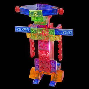 Светящийся конструктор 4 в 1 «Робот», 200b, магазин игрушек
