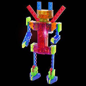 Светящийся конструктор 4 в 1 «Робот», 200b, toys.com.ua