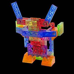 Светящийся конструктор 4 в 1 «Робот», 200b, toys