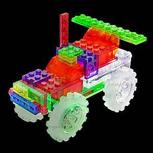 Светодиодный конструктор 6 в 1 «Грузовик-монстр», 110b, игрушки