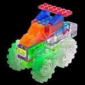 Светодиодный конструктор 6 в 1 «Грузовик-монстр», 110b, детские игрушки