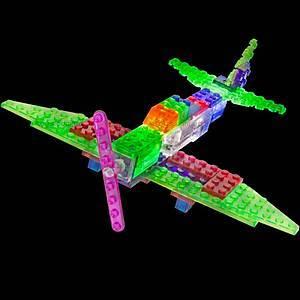 Светящийся конструктор 6 в 1 «Самолёт», 140b, купить