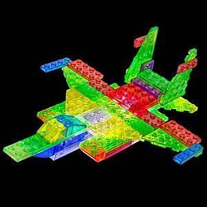 Светящийся конструктор 6 в 1 «Самолёт», 140b, фото
