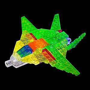 Светящийся конструктор 6 в 1 «Самолёт», 140b, отзывы