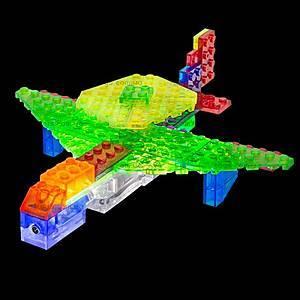 Светящийся конструктор 6 в 1 «Самолёт», 140b, игрушки