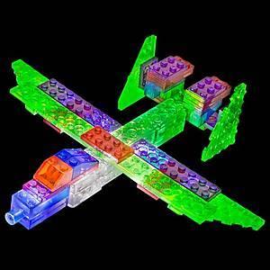 Светящийся конструктор 6 в 1 «Самолёт», 140b, детские игрушки