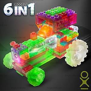 Светящийся конструктор 6 в 1 «Трактор», 120b, купить