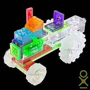 Светящийся конструктор 6 в 1 «Трактор», 120b, цена