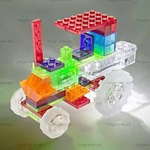 Светящийся конструктор 6 в 1 «Трактор», 120b, игрушки