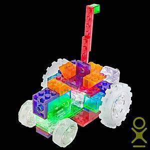 Светящийся конструктор 6 в 1 «Трактор», 120b, детские игрушки