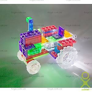 Светящийся конструктор 6 в 1 «Трактор», 120b, магазин игрушек