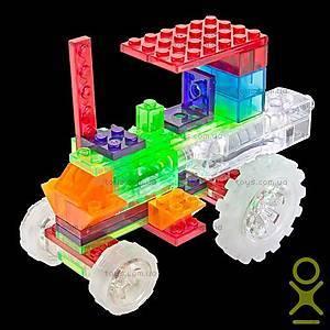 Светящийся конструктор 6 в 1 «Трактор», 120b, toys