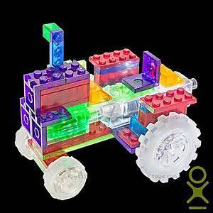 Светящийся конструктор 6 в 1 «Трактор», 120b, іграшки
