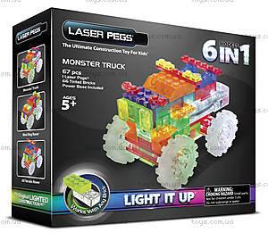 Светящийся конструктор 6 в 1 «Трактор», 120b