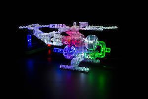 Конструктор со светодиодами 6 в 1 «Вертолет», 1270b, іграшки