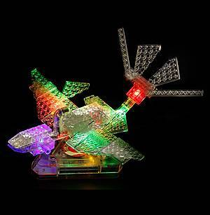 Светодиодный конструктор 8 в 1 «Боевой истребитель», 9005b, отзывы