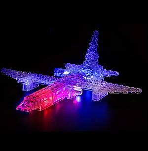Светодиодный конструктор 8 в 1 «Боевой истребитель», 9005b, игрушки
