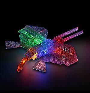 Светодиодный конструктор 8 в 1 «Боевой истребитель», 9005b, детские игрушки
