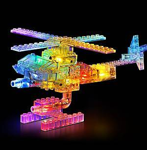 Светодиодный конструктор 8 в 1 «Боевой истребитель», 9005b, магазин игрушек