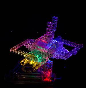 Светодиодный конструктор 8 в 1 «Боевой истребитель», 9005b, toys.com.ua