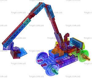 Конструктор со светодиодами 8 в 1 «Бульдозер», 1420b, игрушки