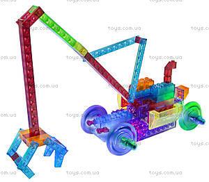 Конструктор со светодиодами 8 в 1 «Бульдозер», 1420b, детские игрушки