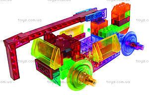 Конструктор со светодиодами 8 в 1 «Бульдозер», 1420b, toys