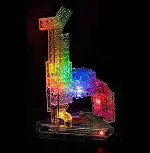 Конструктор со светодиодами 8 в 1 «Мини-автомобиль», 9000b, магазин игрушек