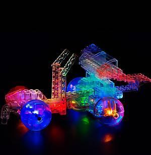 Светодиодный конструктор 8 в 1 «Мини-автомобиль», 9000b, детские игрушки