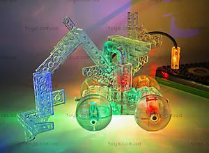 Светодиодный конструктор 8 в 1 «Мини-автомобиль», 9000b, іграшки