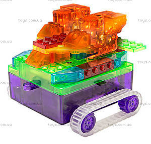 Конструктор со светодиодами 8 в 1 «Танк», 1330В, фото